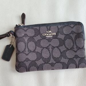 Coach gray wristlet like new